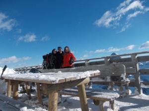 Autoscatto al rifugio Dolomites