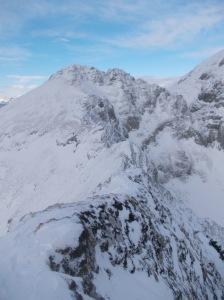 Forcella Tremol e il monte Colombera