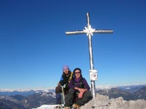 Sulla cima del Jof di Miezegnot, 2087 metri slm