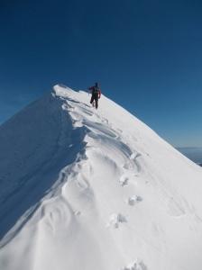 Nicola lungo la cresta