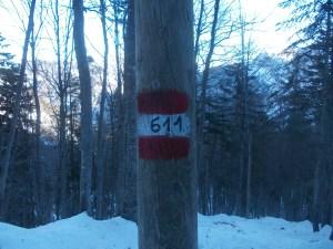 Scendendo lungo il 611