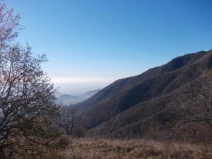 """Vista verso la pianura Veneta dalla """"lobia"""""""