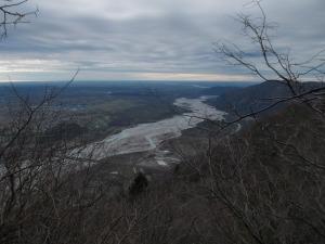 Panorama verso valle: il Tagliamento