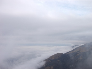 Il panorama verso Ovest