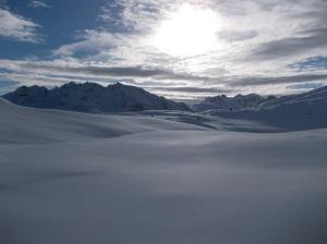 Panorama verso sud. Le nuvole si addensano