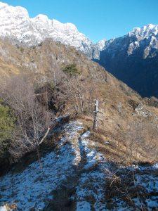 La dorsale verso il Monte Lupo