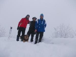 San Daniele del Monte, 1085 metri slm e 40 centimetri di neve
