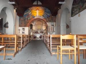 Interno della chiesa del Lussari