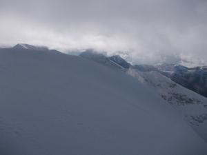 Vista verso Est dalla cima