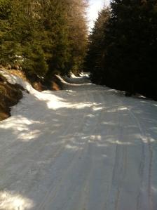 Sopra Restone, inizio della neve