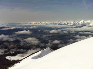 Vista verso l'Alpago