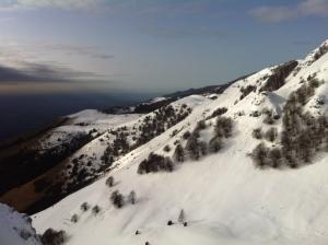 Vista verso il monte Caseratte