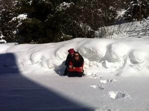 In mezzo alla neve a Trivigno