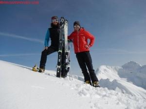 Assieme all'amico Fabrizio sulla cima (http://www.ilmountainrider.com)