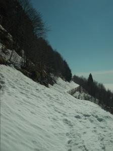 Le slavine sotto il monte Candole
