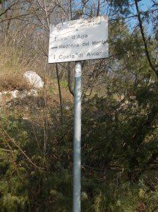 Inizio vero e proprio del sentiero Val d'Aga