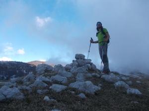 Sulla cima del Col Ceschet, 1394 metri slm