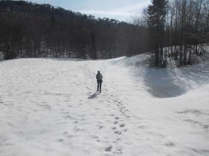 Verso forcella Giais, sentiero CAI 988