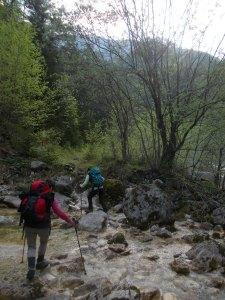 Guadando un rio