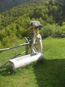 Magnifica fontana di legno