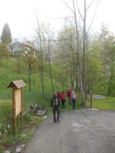 Inizio dell'escursione lungo il sentiero CAI 979