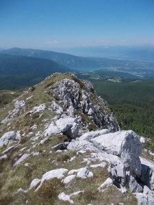Sulle creste del monte Forcella