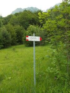 Inizio dell'escursione da Pra de Lunge
