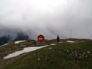 Bivacco Bedin, 2210 metri slm
