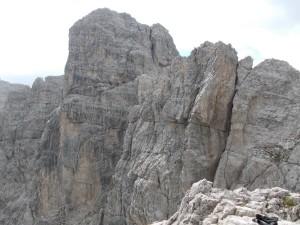 Dalla cima del Torrione Comici, dopo la ferrata Cassiopea