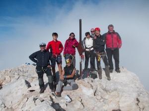 Foto di gruppo sulla cima del Civetta