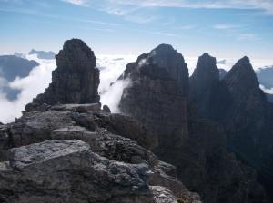 Vista unica dalla cima degli Sfornioi Nord