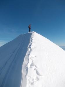 4 dicembre 2013, Nicola sulla cresta della Caulana