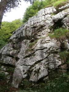 """La piccola falesia """"Heidi"""", sopra la falesia della cava"""