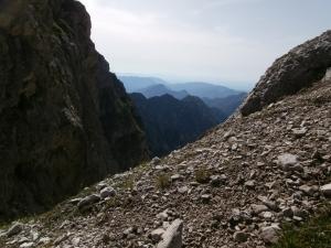Forcella delle Pedole, vista verso Sud
