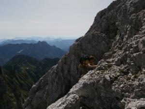 Facili passaggi su roccia