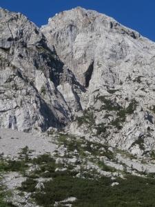 Verso le pareti della Creta di Pricot