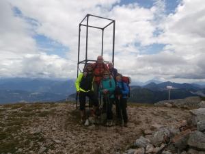 Foto di gruppo sul Cavallo di Pontebba