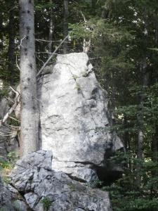 Volti nella roccia