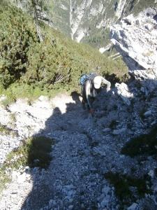 Ultimo tratto di salita lungo lo Zandonella