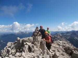 In cima al Monfalcon di Forni, 2453 metri slm