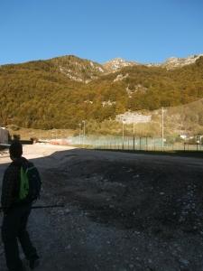Partenza dal Palapredieri a Piancavallo. Lavori (disastrosi) in corso