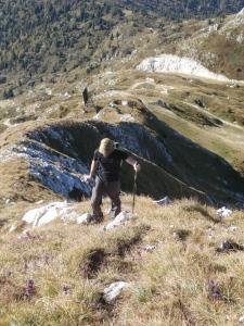 Roberto lungo la cresta Sud