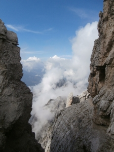 Salto verso la valle de Bosconero
