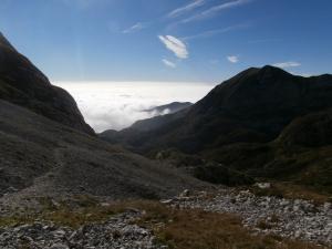 Sulla destra il monte Tremol