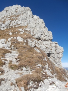 La cresta Sud-Est al Cimon del Cavallo