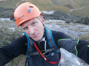 Selfie mentre qualcuno arrampica poco sopra!