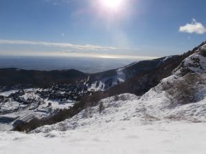 Fatica nella neve verso la val Sughet, ma che panorama!