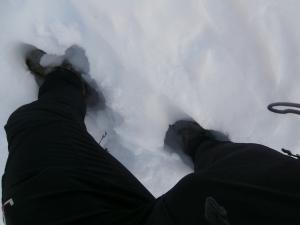 Neve molle, si sprofonda