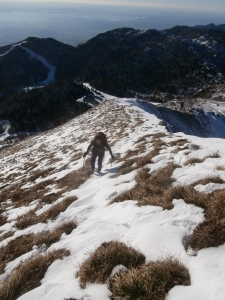 Lungo la cresta che porta in cima al Tremol