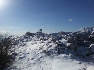 Lasciando la cima del Pala Fontana